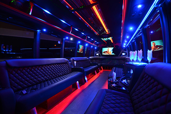 40 passenger party bus rental Hoover